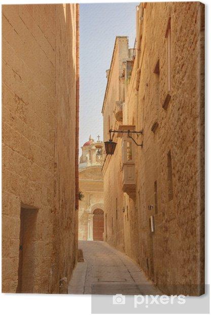 Tableau sur toile Rue de Mdina le malt - Europe