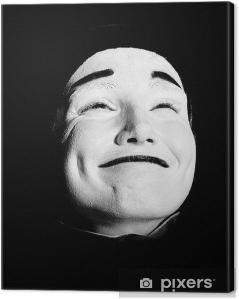 Tableau sur toile Rue mime. - Faces