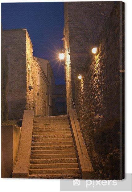 Tableau sur toile Ruelle médiévale en Provence à Grillon - Infrastructures
