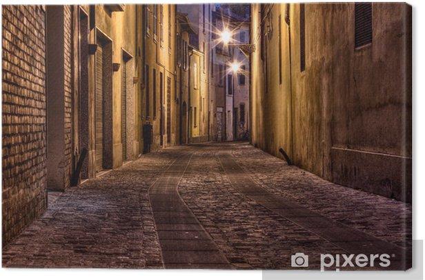 Tableau sur toile Ruelle sombre dans la vieille ville - Thèmes
