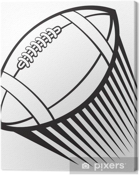 Tableau sur toile Rugby (football américain) à billes - Rugby