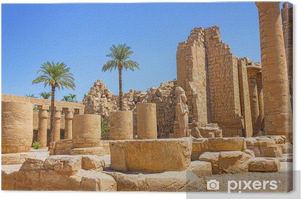 Tableau sur toile Ruines antiques du temple de Karnak en Égypte - Afrique