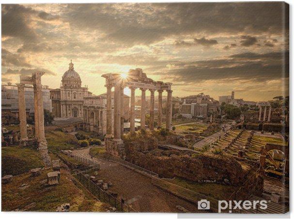 Tableau sur toile Ruines romaines célèbres à Rome, ville de la capitale de l'Italie -