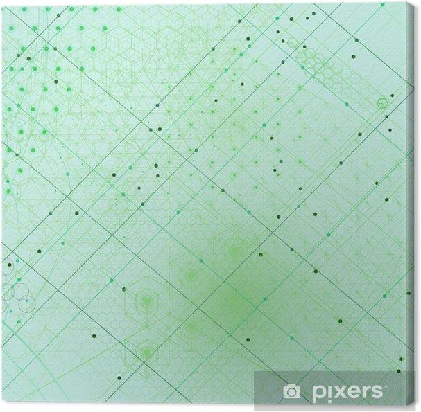 Tableau sur toile Sacré symboles et éléments géométriques fond - Ressources graphiques