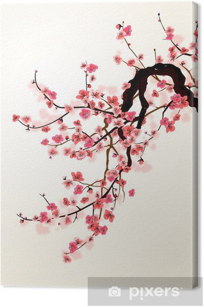 Tableau sur toile Sakura - Styles