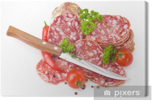 Tableau sur toile Salami italien - Thèmes