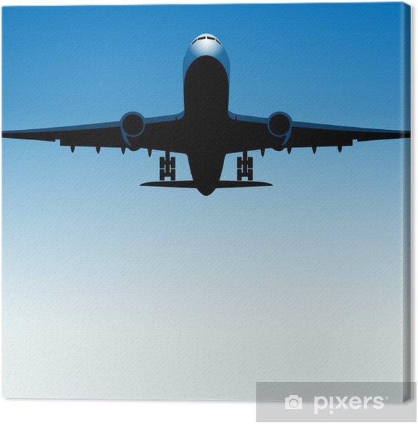 Tableau sur toile Samolot tło WEKTOR - Dans les airs