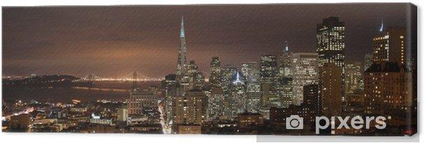Tableau sur toile San francisco - panorama de nuit - Amérique