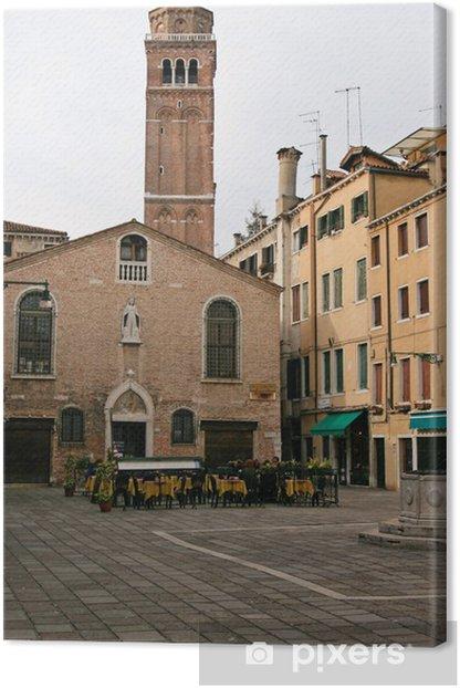 Tableau sur toile San Maurizio, Kirchturm, Schiefer Turm, Venedig - Villes européennes
