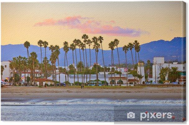 Tableau sur toile Santa Barbara de la jetée - Amérique