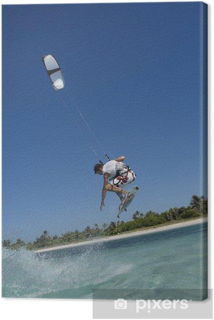 Tableau sur toile Saut de kite surf - Sports aquatiques