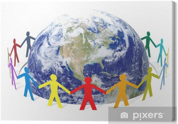 Tableau sur toile Sauver le monde - Personnes