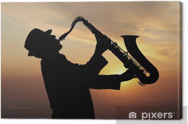 Tableau sur toile Saxophoniste - Jazz