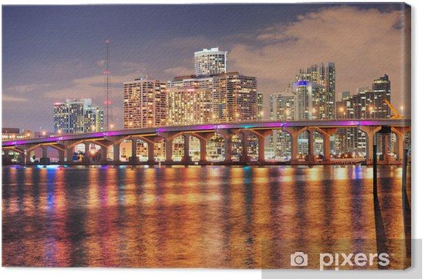 Tableau sur toile Scène de nuit à Miami - Thèmes