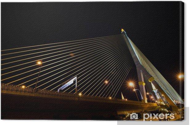 Tableau sur toile Scène de nuit dans le pont Rama8, Bangkok, Thaïlande - Asie