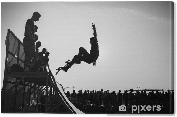 Tableau sur toile Se jeter - Skateboarding