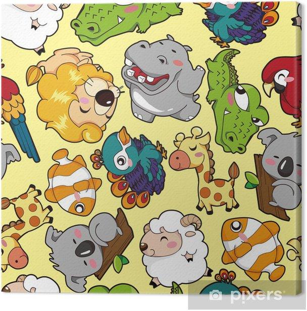 Tableau sur toile Seamless animal pattern - Arrière plans