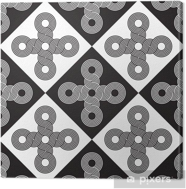 Tableau sur toile Seamless Art Déco Texture Background - Art et création
