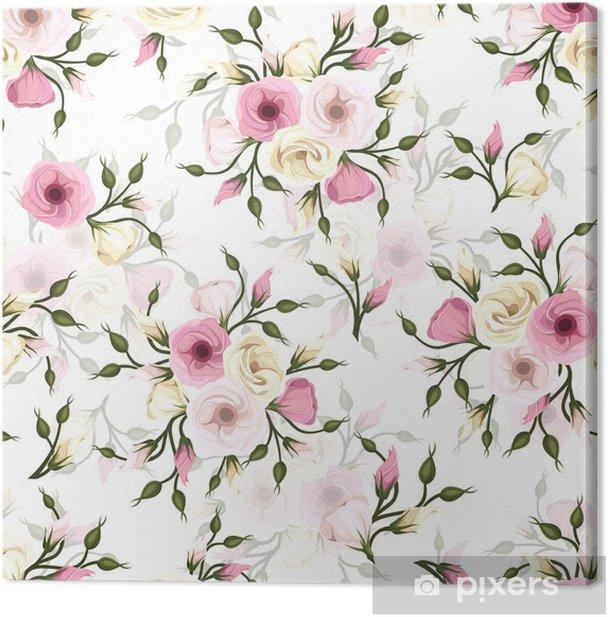 Tableau sur toile Seamless avec des fleurs de lisianthus. Vecteur eps-10. - Styles