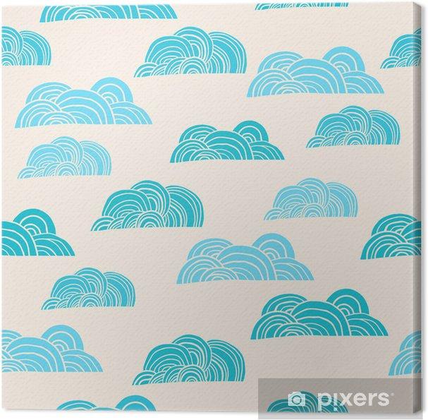 Tableau sur toile Seamless avec des nuages - Thèmes
