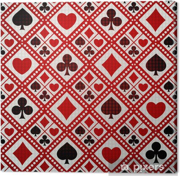 Tableau sur toile Seamless costumes fond de carte de jeu - Divertissements
