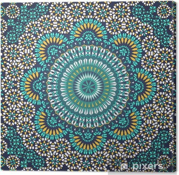 Tableau sur toile Seamless dans le style ethnique mosaïque. - Mosaïque