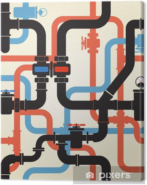 Tableau sur toile Seamless des canalisations d'eau - Destin