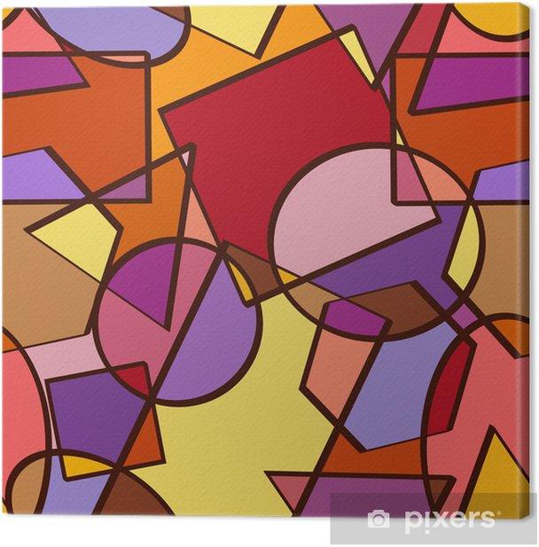 Tableau sur toile Seamless des figures géométriques - Abstrait