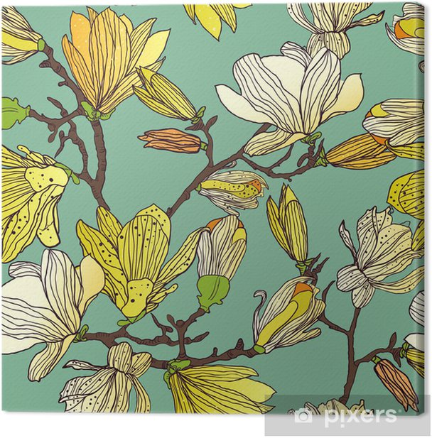 Tableau sur toile Seamless floral texture - Styles