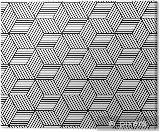 Tableau sur toile Seamless géométrique avec des cubes. - Ressources graphiques