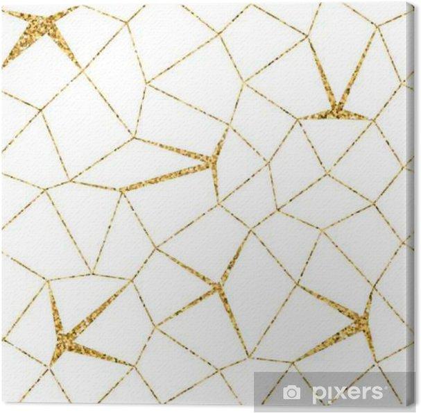 Tableau Sur Toile Seamless Geometrique Mosaique 3d Modele Blanc