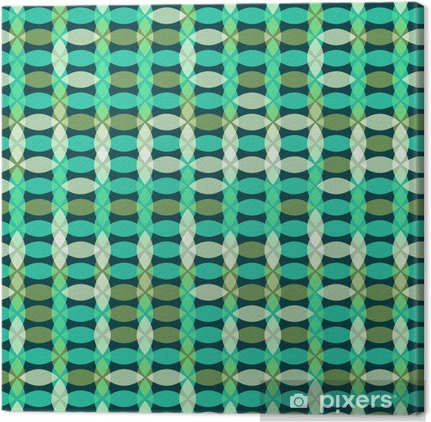 Tableau sur toile Seamless géométrique rétro - Abstrait