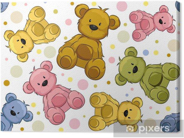 Tableau sur toile Seamless ours en peluche - Arrière plans