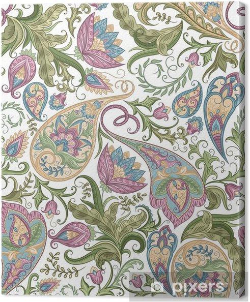 Tableau sur toile Seamless Paisley - Plantes et fleurs
