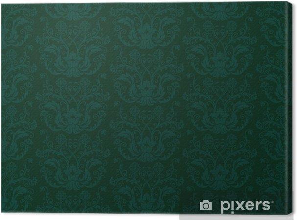 Tableau Sur Toile Seamless Papier Peint Vintage Vert Pixers