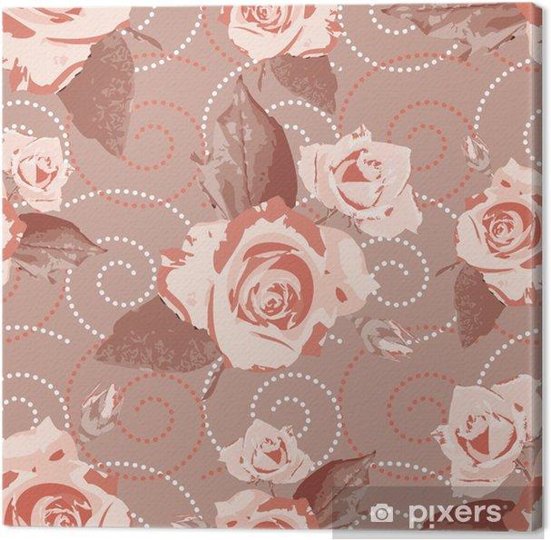 Tableau Sur Toile Seamless Pattern Fonds D Ecran Avec Beige Fleurs