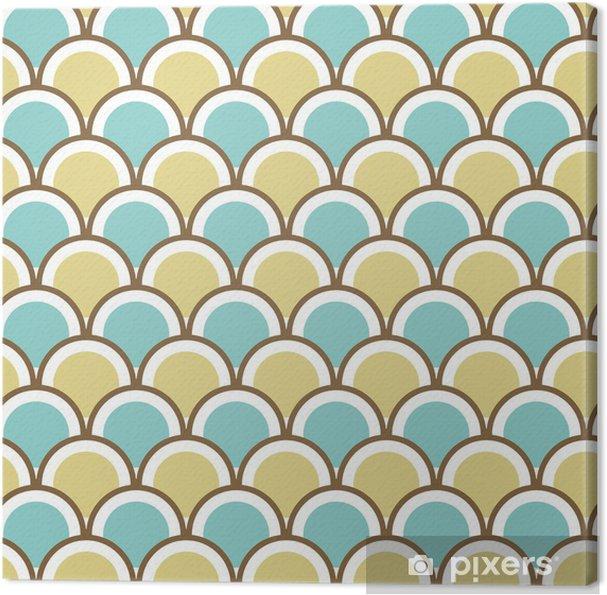 Tableau sur toile Seamless pattern with circles - Arrière plans