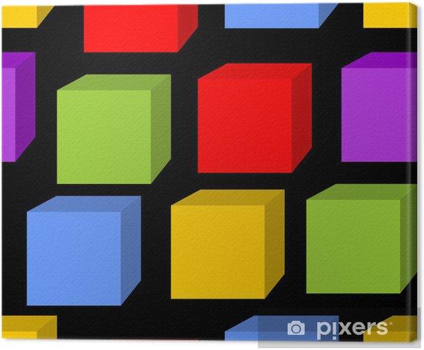 Tableau sur toile Seamless patterns arc de cube - Arrière plans