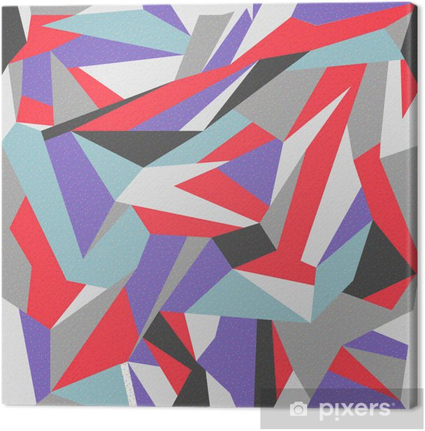 Tableau sur toile Seamless retro fond abstrait coloré -