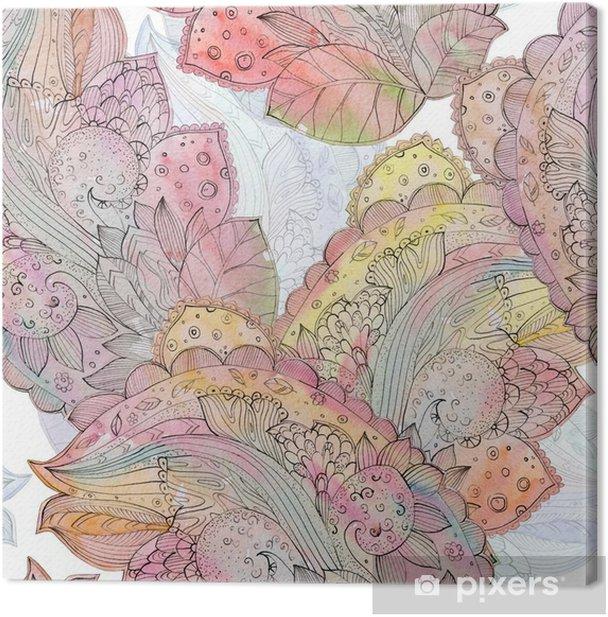 Tableau sur toile Seamless texture abstraite pour batik avec motif ethnique. watercolo - Passe-temps et loisirs
