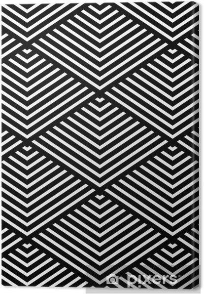Tableau sur toile Seamless texture géométrique. - Thèmes