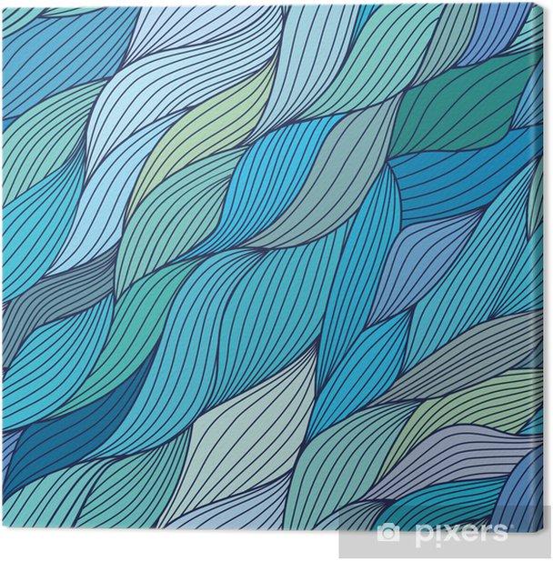 Tableau sur toile Seamless vague dessiné à la main motif, des vagues de fond (transparente t - Arrière plans