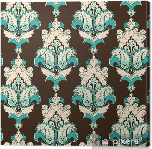 Tableau sur toile Seamless vecteur. motif damassé vintage. modifier facilement les couleurs. - Ressources graphiques