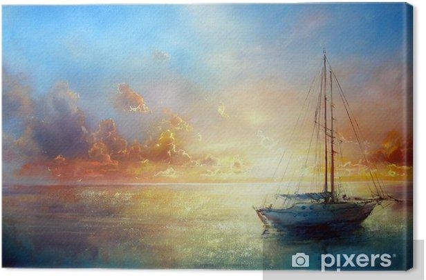 Tableau sur toile Seascape Pier - Thèmes