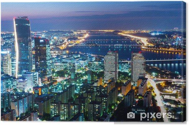 Tableau sur toile Séoul horizon dans la nuit - Thèmes