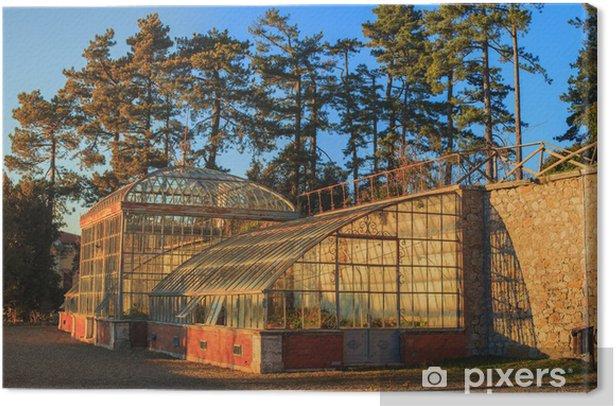 Tableau sur toile Serre botanique - Bâtiments commerciaux et industriels