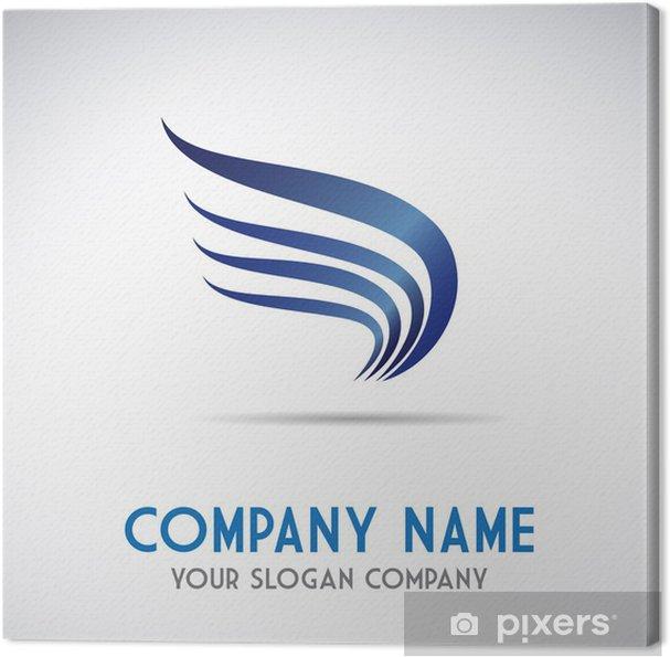 Tableau sur toile Services logo aigle, de transport et de messagerie  vectorielle #