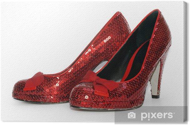 Tableau sur toile Sexy Ladies Red étincelle chaussures à talons hauts - Mode