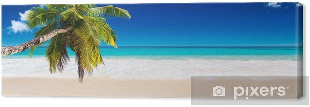 Tableau sur toile Seychelles plage - Destin