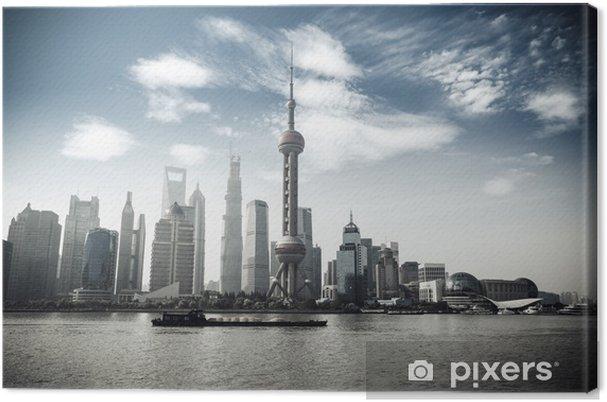 Tableau sur toile Shanghai skyline - Paysages urbains
